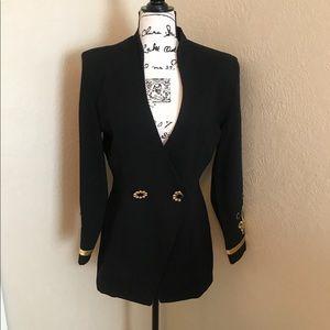 Vintage Cline - Kolarek Black Wool/Gold Size: 2